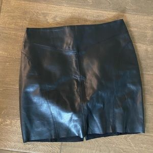 Express leather pencil skirt